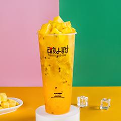 芒果百香冰冰茶